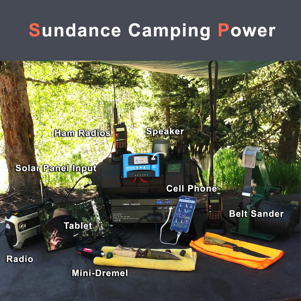 power station at campsite
