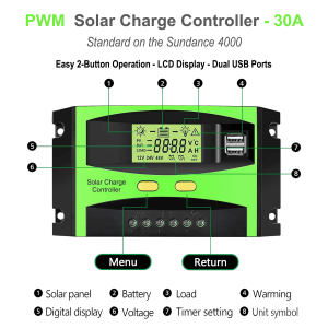 30A solar controller for power station detailed