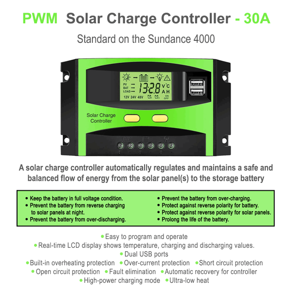 30A solar controller for power station