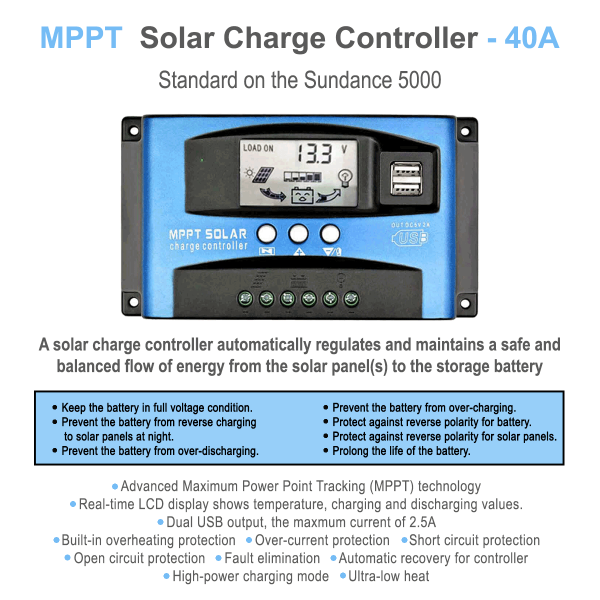 40A solar controller for power station
