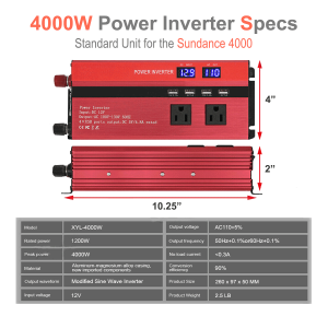 4000W power inverter specifications