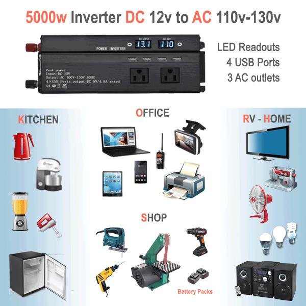 5000W power inverter uses