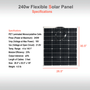 Flexible Solar Panel 240W Specifications
