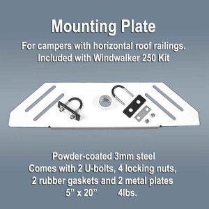 wind generator mounting plate