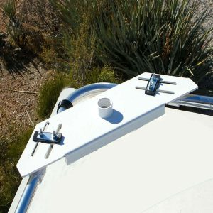 wind generator mounting plate on camper roof rails